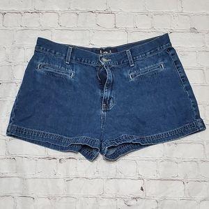 LEI Blue Denim Jean Shorts Jeans Juniors Size 13